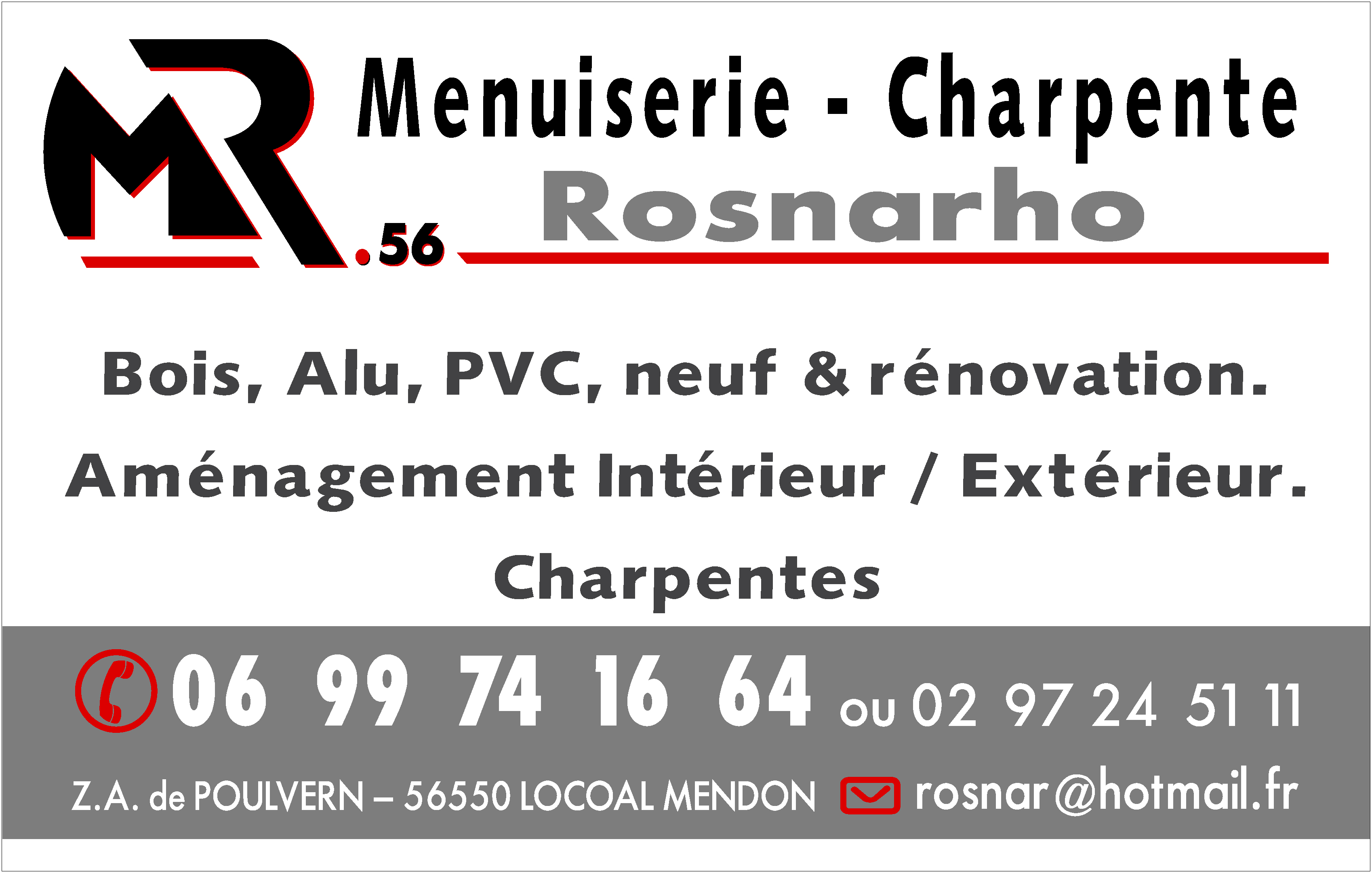 Menuiserie Rosnarho 56